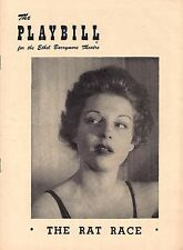 "Betty Field ""RAT RACE"" Ray Walston / Barry Nelson / Garson Kanin 1950 Playbill"