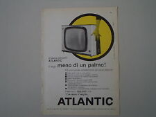 advertising Pubblicità 1960 TELEVISORE ATLANTIC