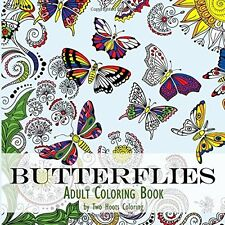 Coloring Book For Adult Kids  Painting Beautiful Butterflies Relax Activity Art