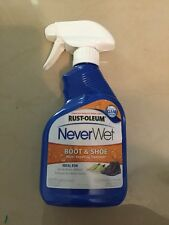 New Rust-Oleum 11 Oz Boot Spray Clear Protects Shoes Never Wet Leather Cotton
