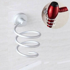 Spiral Blow Hair Dryer Stand Flat Holder Wall Mounted Hang Holder Organizer