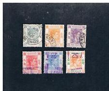 China: 6 used Hong Kong: King George VI: 2, 4, 10, 20, 30 cents & $1.00