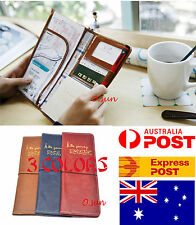 Faux Leather Travel Long Wallet Passport Holder Ticket Organizer Case Cover
