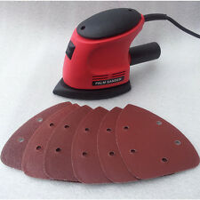 HEAVY DUTY 135W DETAIL PALM CORNER MOUSE HAND SANDER SANDING TOOL & SHEET