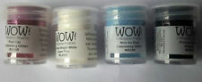 Embossing Powders by WOW in 4 Colours