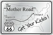 Route 66 Mother Road Get Your kicks metal sign    (ga)