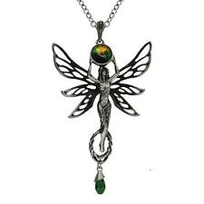 ABSINTHE GREEN FAIRY GODDESS  ALCHEMY GOTHIC STEAMPUNK EMPIRE PENDANT + GIFT BOX