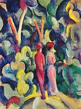 AUGUST MACKE COUPLE IN FOREST OLD MASTER ART PAINTING PRINT POSTER 250OMA