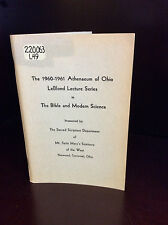 THE BIBLE & MODERN SCIENCE -  Mt. Saint Mary's Seminary - 1961