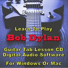 BOB DYLAN Guitar Tab Lesson CD Software - 48 Songs