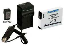 Battery + Charger for Samsung HMX-U10EN/QVC HMX-U10ENQVC HMX-U100BN HMXU10BN