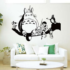 Kawaii Totoro Stickers Kids Room Bedroom 3D Diy Art Wall Stickers Home Decor