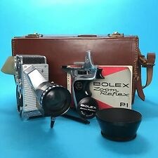 BOLEX ZOOM REFLEX p1 8mm VINTAGE FILM MOVIE camera kamera KIT testato 8-40mm f1.9