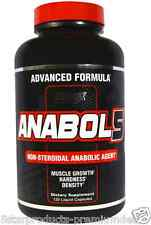 NEW ANABOL 5 BLACK NUTREX RESEARCH LABS ANABOLIC SUPPLEMENT 120 LIQUID CAPSULES