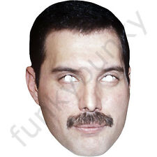 Freddie Mercury 1980's Celebrity Singer Card Mask - All Our Masks Are Pre-Cut