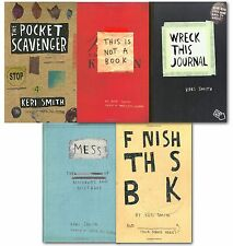 Keri Smith 5 Books Collection Set Wreck This Journal, Mess, This Is Not A Book