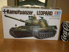 LEOPARD - KAMPFPANZER, WEST GERMAN MEDIUM TANK, PLASTIC TAMIYA MODEL, SCALE 1/35
