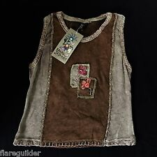 Hand Made Chunky Stitching JR LADIES MED NEW NWT Green Made in Nepal Sleeveless