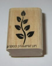 Branch Leaves Rubber Stamp Flowers Tree Stampin' Up! Retired Garden Home Leaf