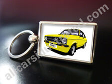 FORD ESCORT MEXICO MK2 METAL KEY RING. CHOOSE YOUR CAR COLOUR & GRILLE STYLE