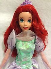 Disney Princess Ariel Little Mermaid Barbie Purple Party Evening Gown EUC