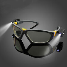 Cycling Sport Safety Glasses Anti-fog Clear Lens Eye Protective Goggles 2 Lights