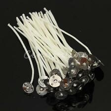 100pcs 120mm Candle Wicks Pre Waxed PreTabbed With Sustainers Cotton Coreless
