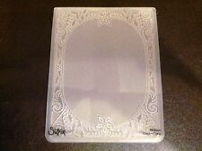 Sizzix Large Embossing Folder CHRISTMAS HOLIDAY FRAME fits Cuttlebug & Big Shot