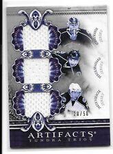 10 11 UD Artifacts Mason Brassard Voracek Silver Tundra Trios Jersey #ed /50
