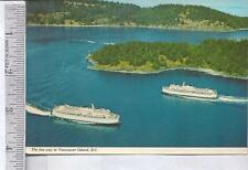 1972 Used post card VANCOUVER ISLAND B.C. CANADA  FERRY FLEET 2 ships