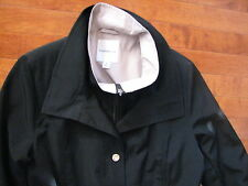 NEW ~ Croft & Barrow ~ Cute and elegant Black / Beige Jacket Trench Coat ~ SMALL