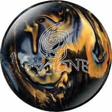 EBONITE CYCLONE BLACK GOLD SILVER 10 LB BOWLING BALL NEW AWESOME BALL HOOK