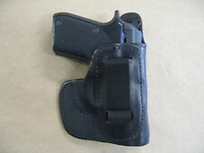 Taurus PT22 / PT25 IWB In Waistband Leather Concealed Carry Holster CCW BLACK RH