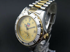 RARE!! TAG HEUER 2000 Professional 974.013R Date Quartz Watch Gold Dial [691]