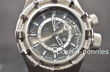 INVICTA MENS RESERVE BOLT GMT BLACK SILVER STAINLESS STEEL BRACELET WATCH 7250