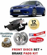 FOR FORD MONDEO 2000-2007 NEW FRONT BRAKE DISCS SET + DISC PADS KIT