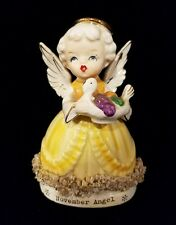 Vintage Ceramic FINE A QUALITY Angel of the Month NOVEMBER THANKSGIVING Turkey