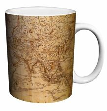 MAP OF THE WORLD, Antique Look Coffee Mug, 11 oz, Boxed, Culturenik