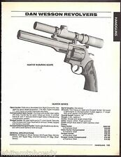 1995 DAN WESSON Hunter w/Burris Scope Revolver AD w/ specs and prices
