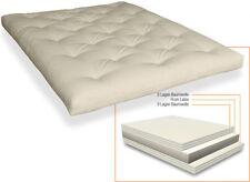 Futon Comfort 140x200 cm mit 6 Lagen Baumwolle und Latex Futonmatratze