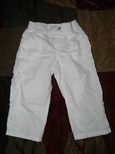 Girls The Children's Place White Cropped Convertible Pants Size 6 Plus
