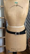 "GUESS Brown/Black REVERSIBLE Leather Belt 30-34"" Silver Tone Buckle 32"""