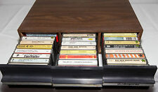 35x Assorted  Cassette Tapes & Audiosonic Cassette Cabinet Fats Waller Ink Sport