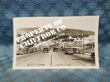 Circa 1939-40 Coast Highway & Town Laguna Beach CA Original Real Photo Postcard