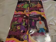 BARBIE KEN DOLLS SCOOBY DOO SET 4 VELMA DAPHNE FRED SHAGGY ALL HAVE SCOOBY DOG