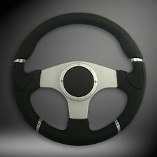 14inch 350mm SPARCO car Sports Leather Flat Style Drifting Racing Steering Wheel