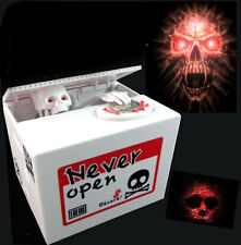 New Automated Stealing Coins Cent Piggy Bank Money Skull Coin Saving Box 6153