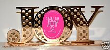 Bath & Body Works SHARE THE JOY YELLOW GOLD PICTURE FRAME OVAL PHOTO NEW