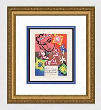 """**BOGO* MATISSE Exhibition Poster """"School of Decorative Arts"""" SIGNED Framed COA"""