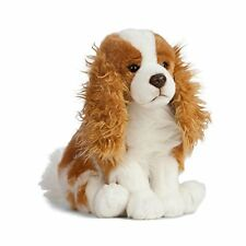 LIVING NATURE 27cm SITTING KING CHARLES SPANIEL DOG SOFT TOY WITH TAG AN404 NEW